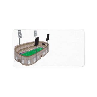 Soccer Stadium Label