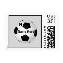 Soccer Stamps with Your NAME, NUMBER or MONOGRAM