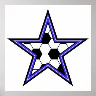 soccer star blue poster