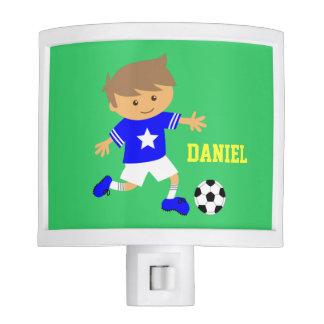 Soccer Star Boy, Football Theme for Boys bedroom Night Light