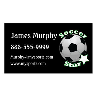 Soccer Star Double-Sided Standard Business Cards (Pack Of 100)