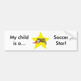 Soccer star!  Customizable: Bumper Sticker