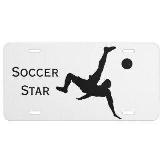 Soccer Star License Plate