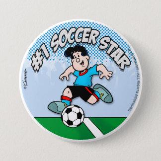 Soccer Star Pinback Button
