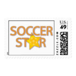 Soccer Star Postage Stamp