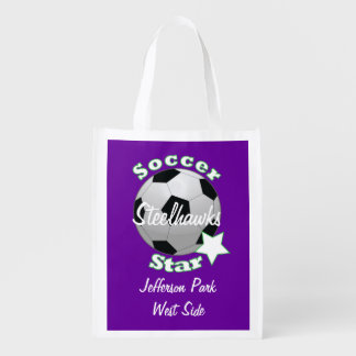 Soccer Star Reusable Grocery Bag