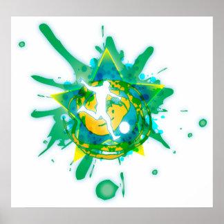 soccer star splatter poster