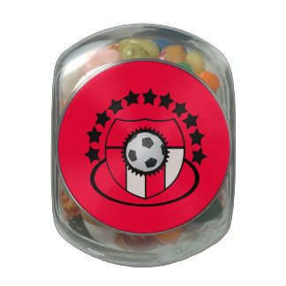 Soccer Stars Team Icon with Ball Award - Glass Jars