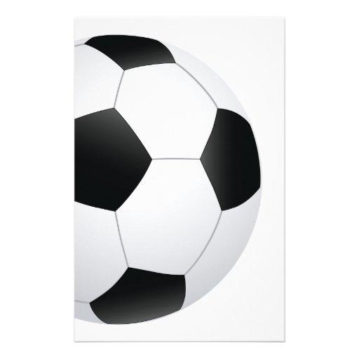 soccer stationery design