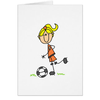 Soccer Stick Figure Card