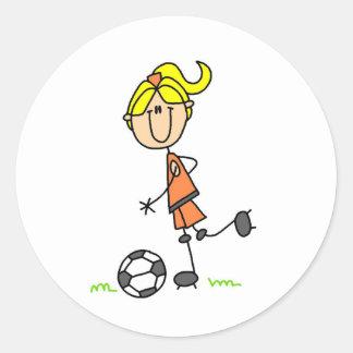 Soccer Stick Figure Sticker