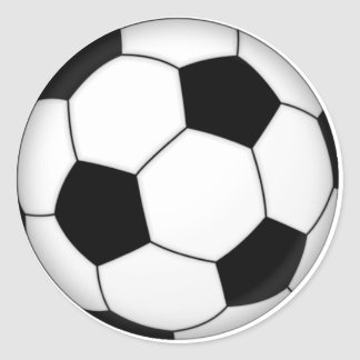 SOCCER ROUND STICKERS