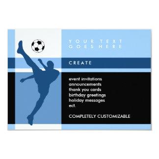 """soccer stripes 3.5"""" x 5"""" invitation card"""
