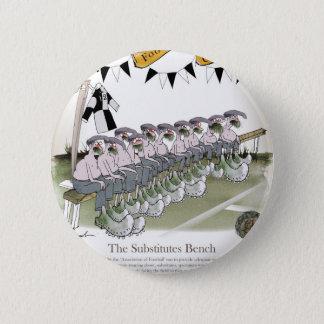 soccer substitutes black + white kit pinback button