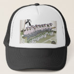 soccer substitutes black + white kit trucker hat