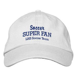 Soccer Super Fan Custom High School Sports Team Embroidered Baseball Cap