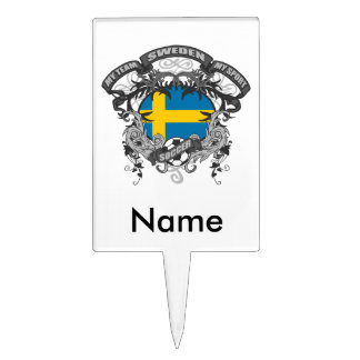Soccer Sweden Rectangle Cake Toppers