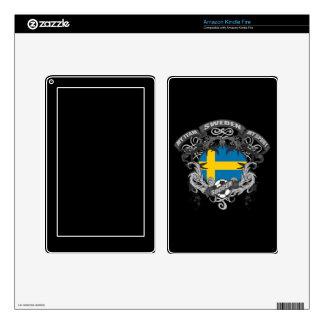 Soccer Sweden Skin For Kindle Fire