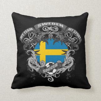 Soccer Sweden Throw Pillow