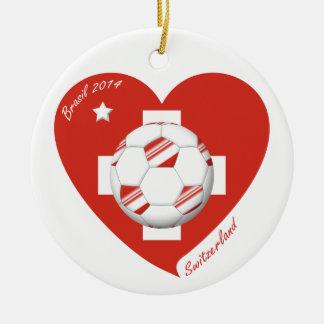 Soccer Switzerland SWITZERLAND National Soccer Tea Ceramic Ornament