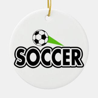 Soccer Swoosh Ceramic Ornament
