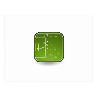 Soccer tactics board postcard