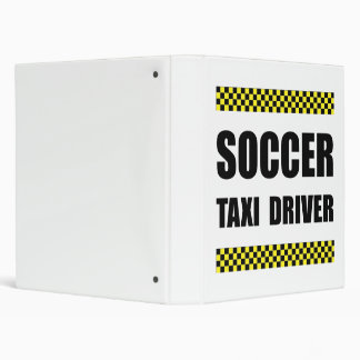 Soccer Taxi Driver 3 Ring Binder
