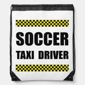 Soccer Taxi Driver Drawstring Bag