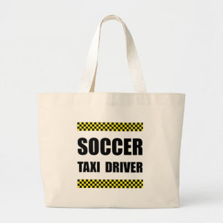 Soccer Taxi Driver Large Tote Bag