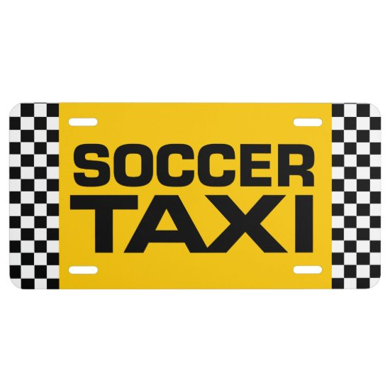 Soccer Taxi License Plate