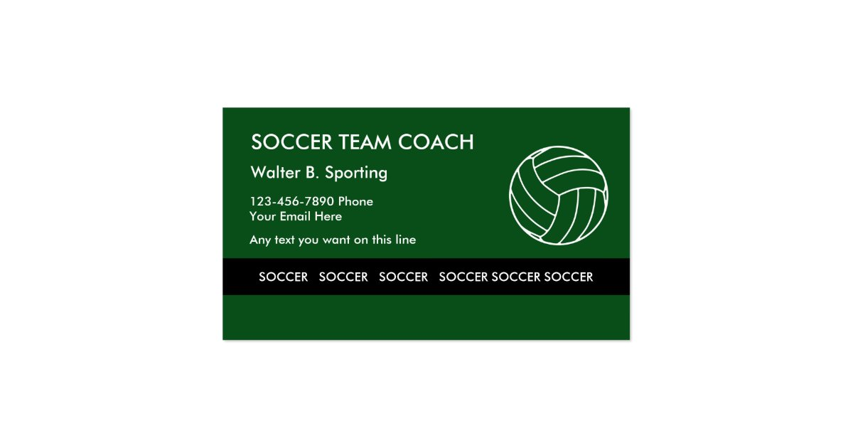 Soccer Coach Business Card | Arts - Arts