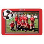 Soccer Team Connor Rectangular Magnets