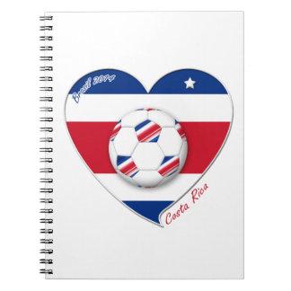 "Soccer Team ""COSTA RICA"" FÚTBOL TICO nacional Cuadernos"