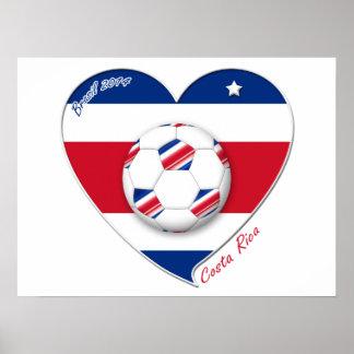 "Soccer Team ""COSTA RICA"" FÚTBOL TICO nacional Póster"