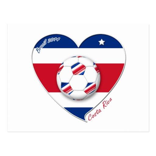 "Soccer Team ""COSTA RICA"" FÚTBOL TICO nacional Tarjeta Postal"