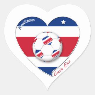 "Soccer Team ""Costa Rica"" national SOCCER TICO Heart Sticker"