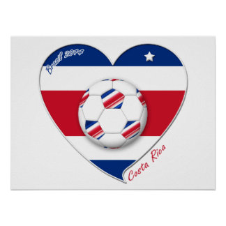 "Soccer Team ""Costa Rica"" national SOCCER TICO Poster"