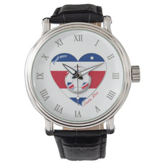 "Soccer Team ""Costa Rica"" national SOCCER TICO Watches"