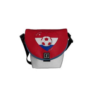 """Soccer Team """"CROATIA"""". Fútbol de Croacia 2014 Bolsas De Mensajeria"""