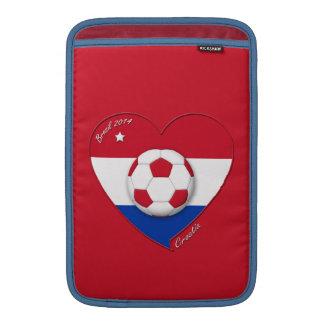 """Soccer Team """"CROATIA"""". Fútbol de Croacia 2014 Funda Para Macbook Air"""