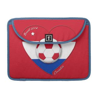 "Soccer Team ""CROATIA"". Fútbol de Croacia 2014 Funda Para Macbook Pro"