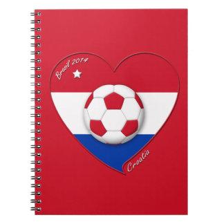 """Soccer Team """"CROATIA"""". Fútbol de Croacia 2014 Libros De Apuntes"""