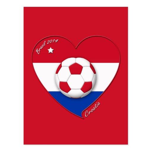"""Soccer Team """"CROATIA"""". Fútbol de Croacia 2014 Postal"""