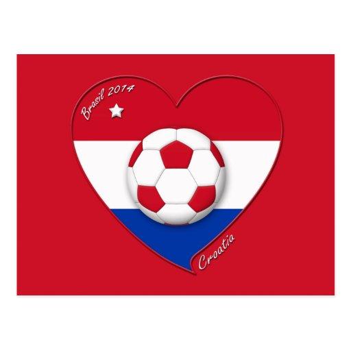 "Soccer Team ""CROATIA"". Fútbol de Croacia 2014 Tarjetas Postales"