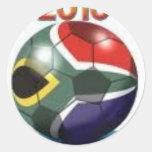 Soccer Team Gear Classic Round Sticker