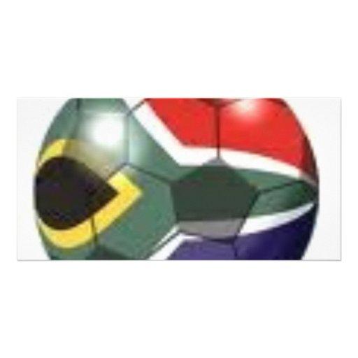 Soccer Team Gear Custom Photo Card