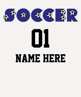 Soccer Team Shirt in Blue