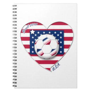 "Soccer Team ""U.S.A."" Fútbol de Estados Unidos Libreta"