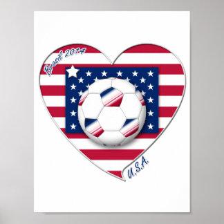 "Soccer Team ""U.S.A."" Fútbol de Estados Unidos Poster"