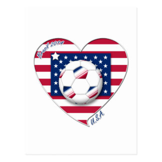 """Soccer Team """"U S A """" Soccer of the United States Postcard"""